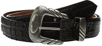 Lucchese W9321 (Black Hornback Caiman) Men's Belts