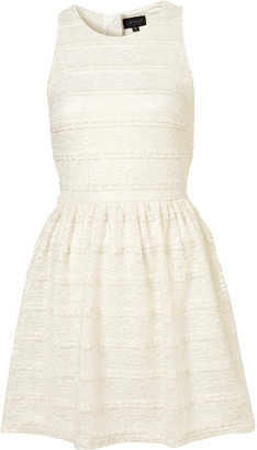 Metallic Lace Flippy Dress