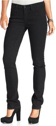 Calvin Klein Jeans Petite Jeans, Straight-Leg, Black Wash