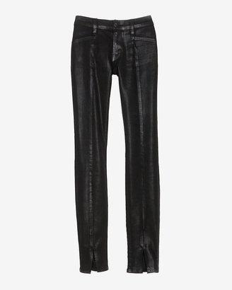 J Brand Vera Midrise Skinny With Center Seam/slit: Black