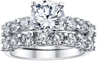 JCPenney FINE JEWELRY DiamonArt 4 CT. T.W. Cubic Zirconia Bridal Ring Set