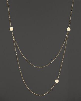 "Lana 14K Yellow Gold Tri Disc Necklace, 24"""