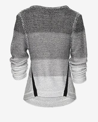 Helmut Lang Exclusive Plaited Degrade V Neck Sweater