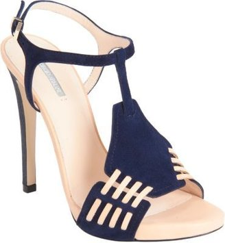 Armani Privé Woven Panel T-Strap Sandal