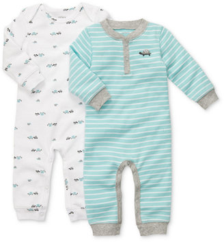 Carter's Baby Boys' 2-Pack Long-Sleeve Printed Coveralls