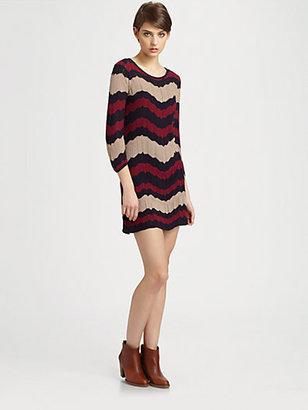 Design History Zig-Zag Pointelle Sweater Dress