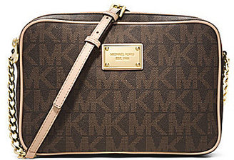 MICHAEL Michael Kors Jet Set Travel Signature Large Cross-Body Bag $148 thestylecure.com