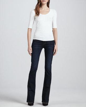 Paige Manhattan Surface Boot-Cut Jeans