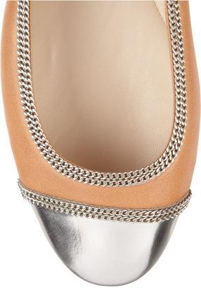 KORS Otley cap-toe leather ballet flats