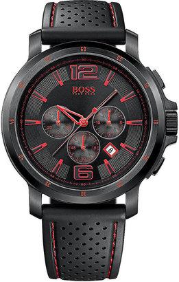 HUGO BOSS Men's Ionic Pleated Black Steel Watch