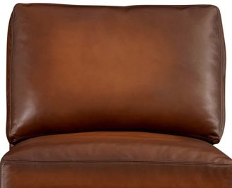 Pottery Barn Turner Leather Square Arm Armchair