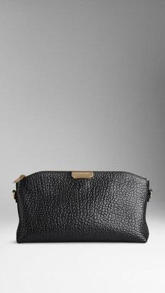 Burberry Small Signature Grain Leather Clutch Bag