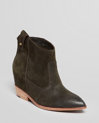 Belle by Sigerson Morrison Pointed Toe Booties - Kyeran Hidden Wedge