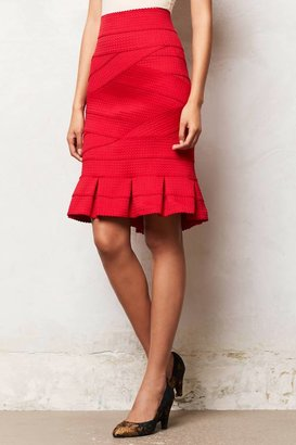 Anthropologie Girls from Savoy Flounced Ponte Pencil Skirt