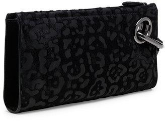 Diane von Furstenberg Sutra Burnout Leopard Haircalf Bracelet Clutch