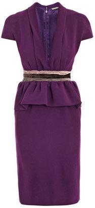 Bottega Veneta Tri-colour waist crepe dress