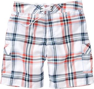 Old Navy Men's Plaid Hybrid Board Shorts