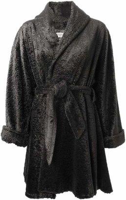 Lanvin PRE-OWNED faux fur belted coat