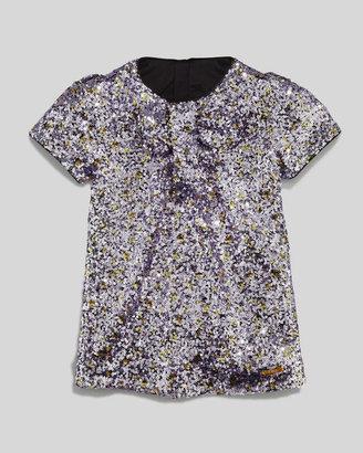 Little Marc Jacobs Sequin Shift Dress, Purple, Sizes 2-5