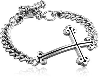 King Baby Chain Cross Bracelet $490 thestylecure.com
