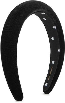 Lele Sadoughi Black Padded Velvet Headband