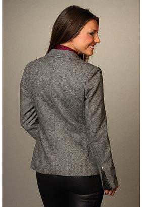Maison Scotch Tweed Blazer w/ Star Brooches