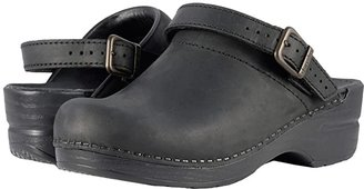 Dansko Ingrid (Black Oiled) Women's Clog Shoes