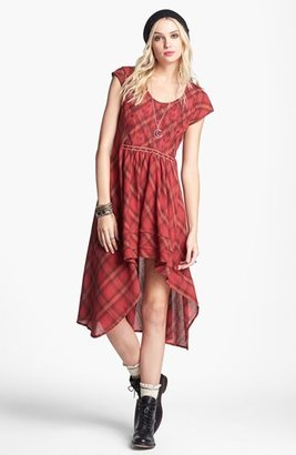 Free People 'Rad for Plaid' Cutout High/Low Dress