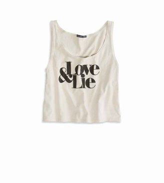 American Eagle AE Effortlessly Chic Graphic Crop Tank