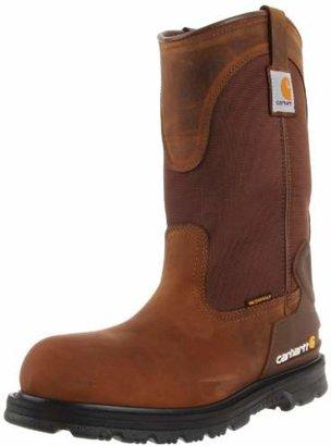 """Carhartt Men's 11"""" Wellington Waterproof Steel Toe Leather Pull-On Work Boot CMP1200"""