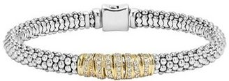 Women's Lagos 'Diamonds & Caviar' Diamond Bracelet $1,495 thestylecure.com