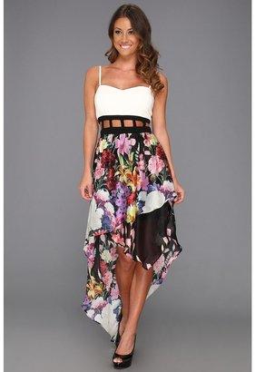 Type Z Raynah Dress (White/Purple Print) - Apparel