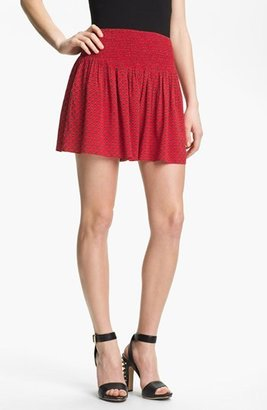 Vince Camuto Two by Smock Waist Print Shorts Fiery Red Medium