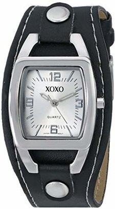 XOXO Women's XO3169 Dial Black Strap Watch