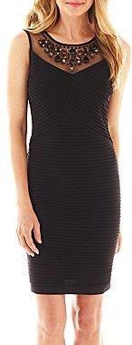 JCPenney Scarlett Sleeveless Jeweled-Neck Dress