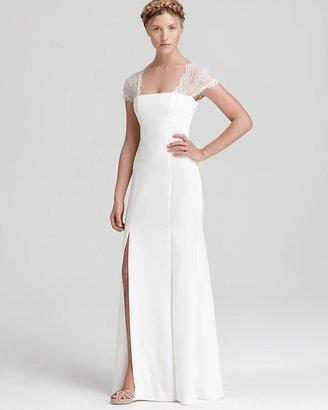 BCBGMAXAZRIA Gown - Lace Cap Sleeve