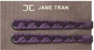 Jane Tran Ribbon Wrapped Bobby Pin Set, Purple 1 ea