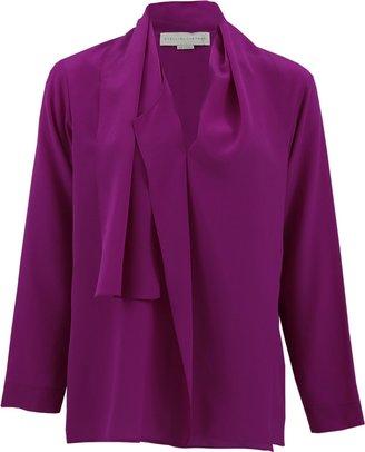 Stella McCartney Long Sleeve Adriana Drape Front Blouse