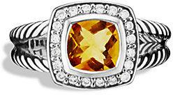 David Yurman Petite Albion Ring with Citrine and Diamonds