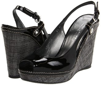 Stuart Weitzman for The Cool People - Aside (Black Patent) - Footwear