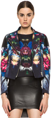 NICHOLAS Digi Floral Moto Jacket in Black Multi