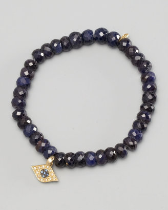 Sydney Evan Diamond Evil Eye Charm Beaded Bracelet