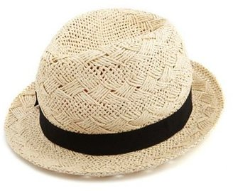 Charlotte Russe Bow Band Straw Fedora