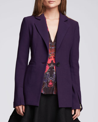 Nanette Lepore Ultra Ray Zipper-Cuff Blazer