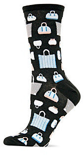 Hot Sox Black Handbags Crew Socks