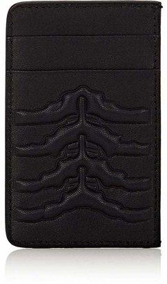 Alexander McQueen Men's Rib-Cage Embossed Card Case