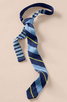 Lands' End Canvas Men's Striped Knit Tie