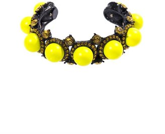 Lanvin Fluoro stud and crystal cuff