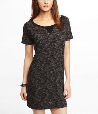 Express Space Dyed Side Zip Tee Dress