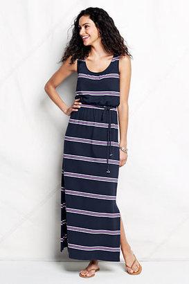 Lands' End NQP Women's Petite Knit Stripe Maxi Dress